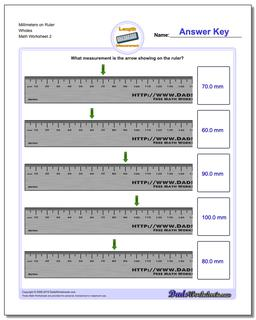 Millimeters on Ruler Wholes Worksheet #Metric #Measurement #Worksheet
