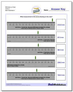 Millimeters on Ruler Tenths 2 Worksheet #Metric #Measurement #Worksheet
