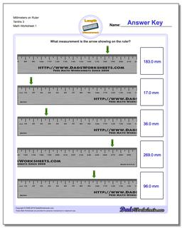 Millimeters on Ruler Tenths 3 Worksheet #Metric #Measurement #Worksheet