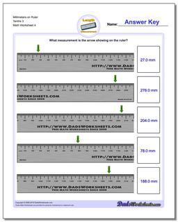 Millimeters on Ruler Tenths 3 Worksheet #Metric #Measurement #Worksheet