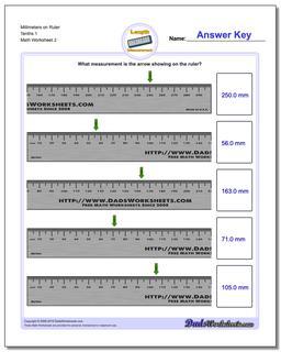Millimeters on Ruler Tenths 1 Worksheet #Metric #Measurement #Worksheet