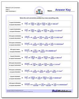 Metric/SI Unit Conversion Worksheet Area 2 www.dadsworksheets.com/worksheets/metric-si-unit-conversions.html