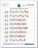 Counting Coins Random Over $1 Worksheet