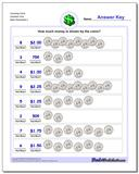 Counting Coins Quarters Only www.dadsworksheets.com/worksheets/money.html Worksheet