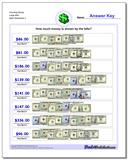 Counting Money Large Bills Worksheet