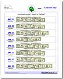 Counting Money Bills Only Worksheet