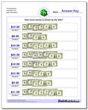 Counting Money Small Bills Only www.dadsworksheets.com/worksheets/money.html Worksheet