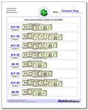 Counting Money Small Bills Only Worksheet