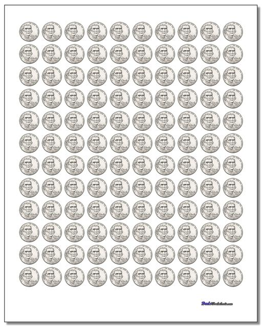 Printable Coins Worksheet