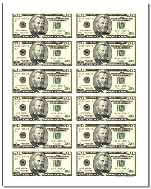 Printable Money www.dadsworksheets.com/worksheets/money.html Worksheet