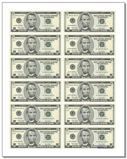 Vibrant image in fake money printable