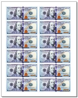 picture relating to Printable 100 Dollar Bill Front and Back titled Printable Participate in Funds