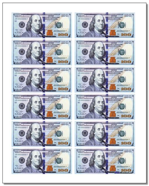 image relating to Printable Prop Money identify Printable Perform Monetary