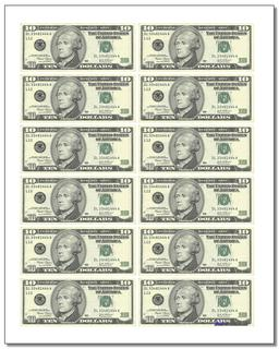 Printable Play Money