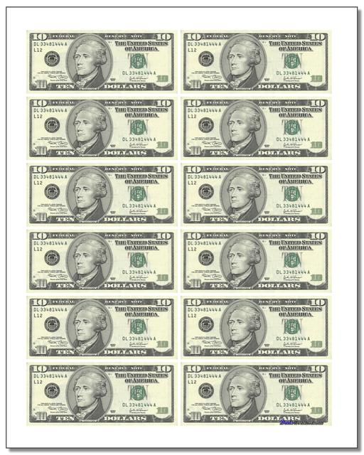 Obsessed image in printable fake money