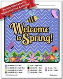 Spring Multiplication Color by Number Worksheet