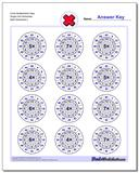 Circle Multiplication Easy Single Fact Worksheet www.dadsworksheets.com/worksheets/multiplication.html