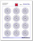 Circle Multiplication Easy Single Fact Worksheet