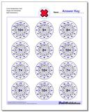 Circle Multiplication Hard Single Fact Worksheet www.dadsworksheets.com/worksheets/multiplication.html