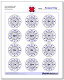 Circle Multiplication Hard Single Fact Worksheet