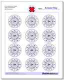 Circle Multiplication Simple Single Fact Worksheet