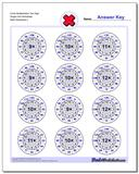 Circle Multiplication Two Digit Single Fact Worksheet www.dadsworksheets.com/worksheets/multiplication.html