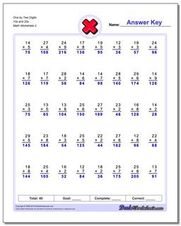 Multiple Digit One By Two Digits S And S Wwwdadsworksheetscomworksheets Multiplication