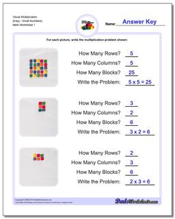 Multiplication Worksheet Visual