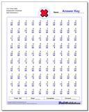 Four Times Table Multiplication Worksheet