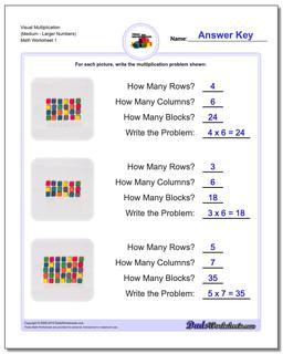 Visual Multiplication Worksheet (MediumLarger Numbers) #Multiplication #Worksheet