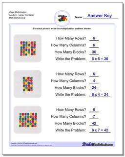 Visual Multiplication Worksheet (MediumLarger Numbers) #Multiplication #Worksheet