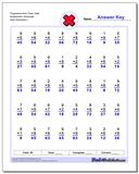 Progressive Nine Times Table Multiplication Worksheet www.dadsworksheets.com/worksheets/multiplication.html