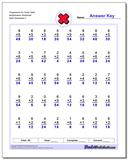 Progressive Six Times Table Multiplication Worksheet