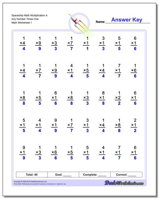 Multiplication Worksheets – Dads Maths Worksheets