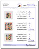 Visual Multiplication Worksheet (With Times 10 Facts)