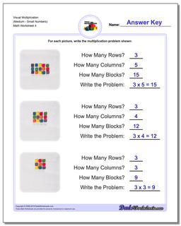 Visual Multiplication Worksheet (MediumSmall Numbers) #Multiplication #Worksheet
