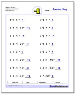 adding and subtracting negative numbers worksheets negative numbers addition worksheet and subtraction worksheet