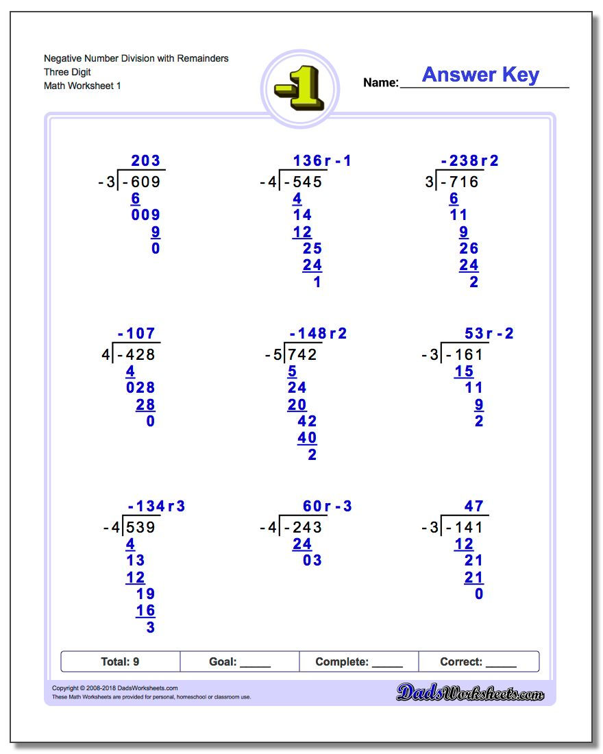 long division worksheets no remainders