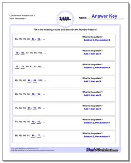 Combination Patterns Set 2 Worksheet