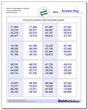 More Five Digit Negative in Numbers Least to Greatest Order www.dadsworksheets.com/worksheets/ordering-numbers.html Worksheet