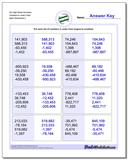 Six Digit Mixed Numbers Greatest to Least Order www.dadsworksheets.com/worksheets/ordering-numbers.html Worksheet