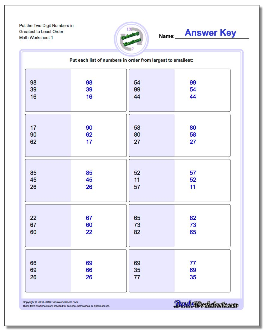 Uncategorized Math Sets Worksheets math worksheets ordering numbers worksheet