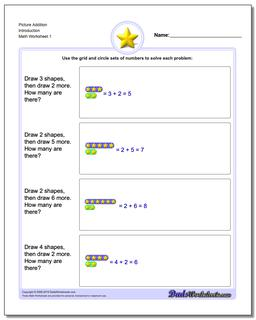 Picture Math Addition Worksheet
