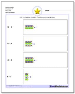 Picture Division Worksheet Introduction 1 Draw Grid