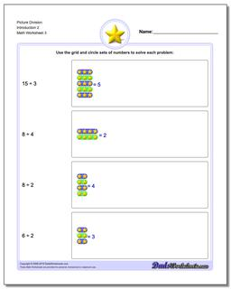 Picture Division Worksheet Introduction 2