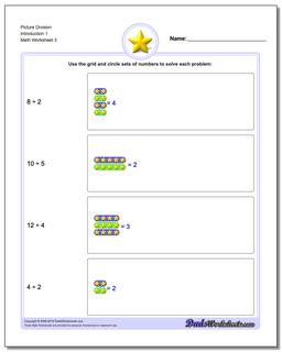 Picture Division Worksheet Introduction 1