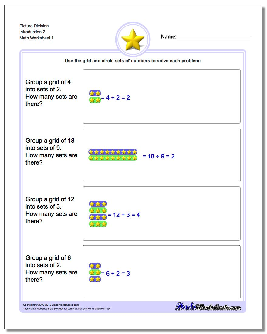 Division Word Problems – Beginning Division Worksheet