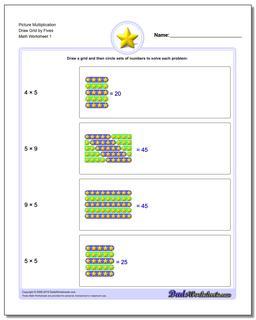 multiplication draw grid. Black Bedroom Furniture Sets. Home Design Ideas