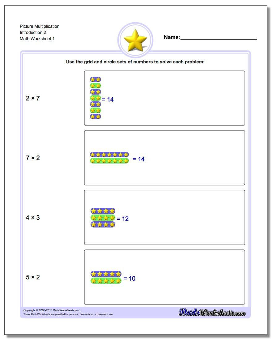 Multiplication Worksheets multiplication worksheets 4 : Multiplication Picture Math
