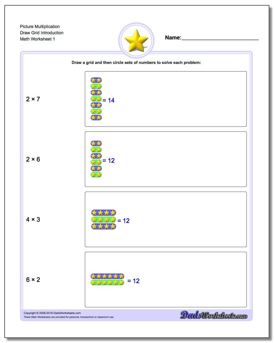 Worksheets Grid Multiplication Worksheets multiplication draw grid picture math worksheet introduction